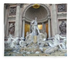 Forum Shops Statues At Ceasars Palace Fleece Blanket