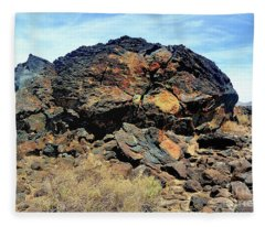 Fossil Falls Fleece Blanket