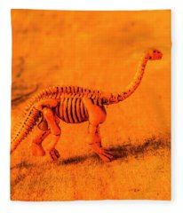 Fossilised Exhibit In Toy Dinosaurs Fleece Blanket