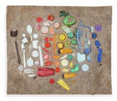 Found Items Rainbow Fleece Blanket