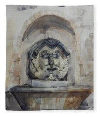 Fountain In Rome Fleece Blanket