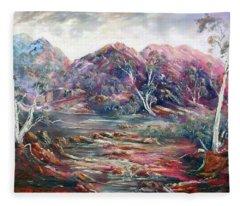 Fountain Springs Outback Australia Fleece Blanket