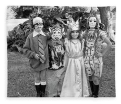 Four Girls In Halloween Costumes, 1971, Part One Fleece Blanket