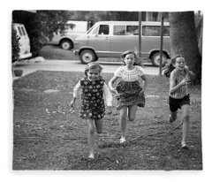 Four Girls Racing, 1972 Fleece Blanket
