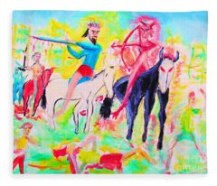 Four Horsemen Fleece Blanket