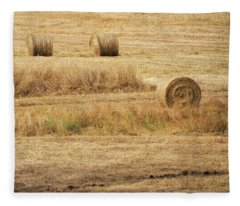 Four Other Hay Balls -  Fleece Blanket