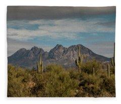 Four Peaks Painterly Fleece Blanket