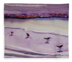 Four Sandpipers Fleece Blanket
