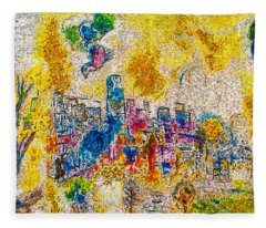 Four Seasons Chagall Fleece Blanket