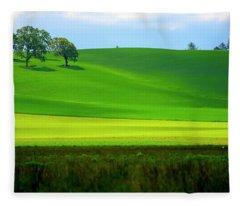 Four Trees On Livermore Road Fleece Blanket