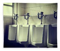 Four Urinals In A Row Fleece Blanket