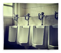 Four Urinals In A Row Fleece Blanket