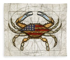Fourth Of July Crab Fleece Blanket