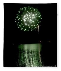 Fourth Of July Fireworks Fleece Blanket