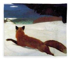 Fox Hunt Fleece Blanket