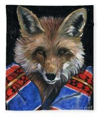 Fox Medicine Fleece Blanket