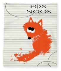 Fox Noos Fleece Blanket