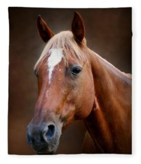 Fox - Quarter Horse Fleece Blanket