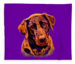 Fox Red Labrador Painting II Fleece Blanket