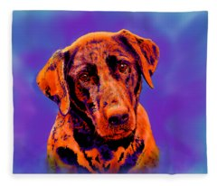 Fox Red Labrador Painting IIi Fleece Blanket