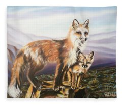 Foxes   Fundamental Foresight Foundation  Fleece Blanket