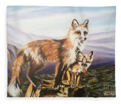 Foxes   Fundamental Foresight Foundation  Fleece Blanket