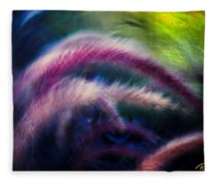 Foxtails In Shadows Fleece Blanket