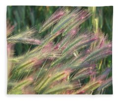 Foxtails In Spring Fleece Blanket