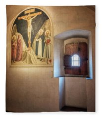 Fra Angelico Fresco Florence Italy Fleece Blanket
