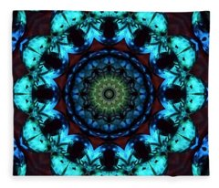 Fractal 2 Fleece Blanket