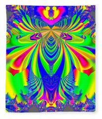 Fractal 31 Psychedelic Love Explosion Fleece Blanket