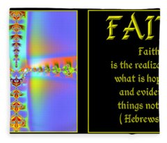 Fractal Faith Hebrews 11 Fleece Blanket
