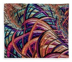 Fractal Farrago Fleece Blanket