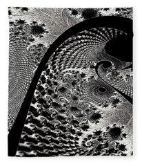 Fractal Japonica Fleece Blanket