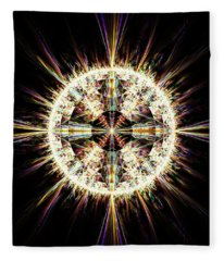 Fractal Jewel Fleece Blanket