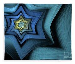 Fractal Star Fleece Blanket