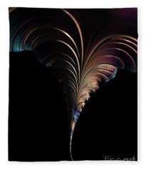 Fractal Waterspout Fleece Blanket