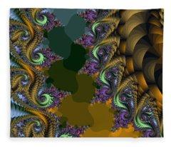 Fractals83002 Fleece Blanket