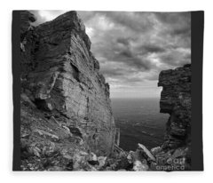 Fractured Rocks At The The Chasms Fleece Blanket