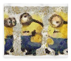 Fragmented And Still In Awe Congratulations Minions Fleece Blanket