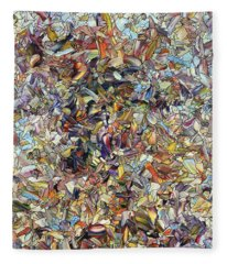 Fragmented Horse Fleece Blanket