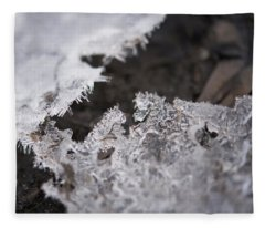 Fragmented Ice Fleece Blanket