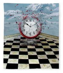 Fragments Of Time Fleece Blanket
