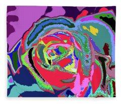 Fragrance Of Color  Fleece Blanket