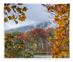 Framed By Fall Fleece Blanket