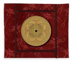 Framed Zenfly Bi Coin Fleece Blanket