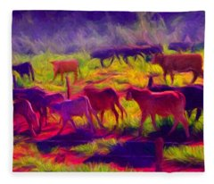 Franca Cattle 1 Fleece Blanket