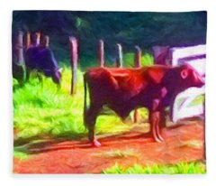 Franca Cattle 2 Fleece Blanket