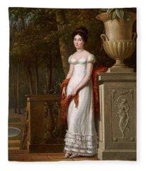 Francisco Lacoma  Portrait Of A Lady Fleece Blanket