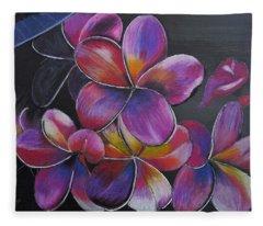 Frangipani  Fleece Blanket